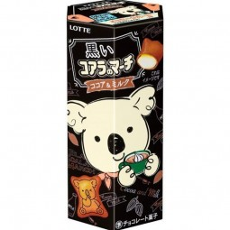 8551 - LOTTE KOALA NO MARCH BLACK COCOA & MILK 48 Gr x 10