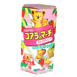 D9007 - LOTTE KOALA STRAWBERRY BISCUIT 195 Gr x 10