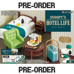 11099 - SNOOPY - COLLECTION SNOOPY'S HOTEL LIFE - LOT DE 8