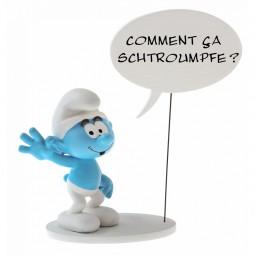 6383 - FIGURINE COLLECTION BULLES : COMMENT ÇA SCHTROUMPFE?